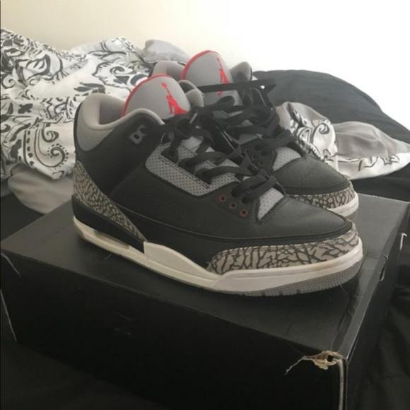 Jordan Shoes   Bred 3s Size 12   Poshmark